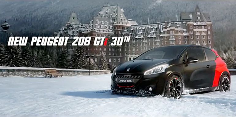 pub peugeot 208 gti un remake de la pub culte de la 205 gti de 1984 james bond contre le. Black Bedroom Furniture Sets. Home Design Ideas