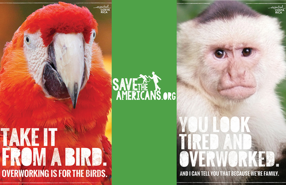 save the americans campagne print